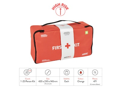 WH Safe Mediq Essential Industrial Response First-Aid Kit - Soft Pack (High Risk)