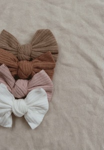 Ribbed Bow Headbands - Mae + Rae