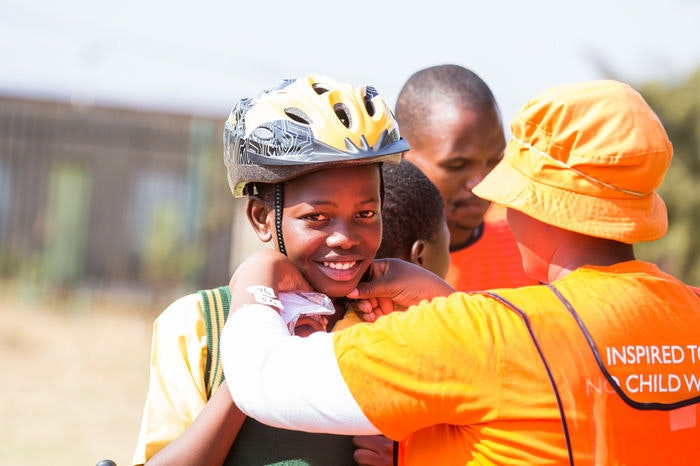 display Qhubeka BEEP Orange Farm Partner Use S6
