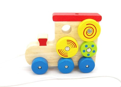 Kaper Kidz PULL-A-L SPIN PATTERN TRAIN
