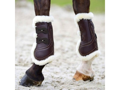 Kentucky Sheepskin Leather Tendon Boots -Elastic