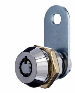 BDS 12mm cam lock with 2 keys keyed to differ in chrome plate finish is ideal as a replacement letter box lock.