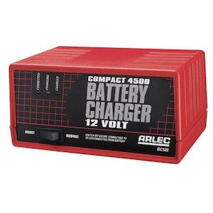Arlec BC588 Battery Charger 12v Compact 4500 4.5Ah Continuous BC588
