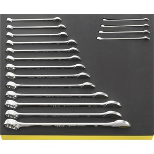 Spanner Set 17 Piece in TCS Foam Inlay Fits Tool Boxes TCS13/17 6-24