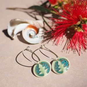 Beach Christmas Porcelain Earrings