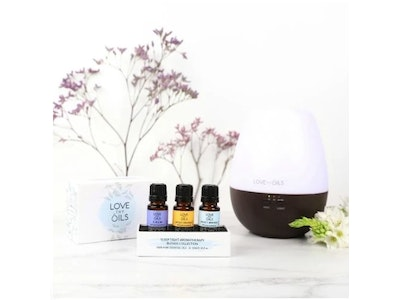 Love Thy Oils Sleep Tight Essential Oil 3 pack with diffuser