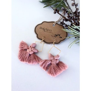 Sculptures of the Earth Macramé earrings - Isabella