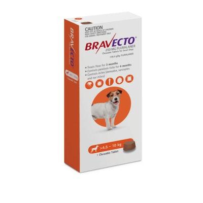 BRAVECTO Orange Chew 4.5-10Kg Dog 6 Month Pack