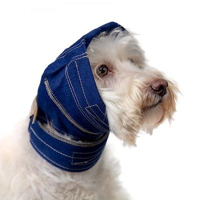 KVP International No Flap Ear Wrap for Dogs - Denim-- Sizes: XS, S, S/M, M, L, XL