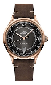 Mido Multifort Patrimony - Stainless Steel with Rose Gold PVD - Brown Patina Leather Strap
