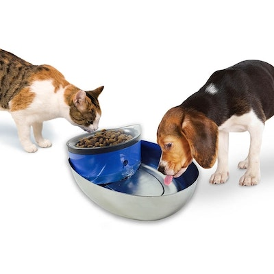 Pioneer Pet Pioneer Combined Pet Drinking Fountian & Food Bowl - 1.8 Litres