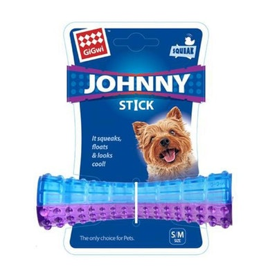 GIGWI Johnny Stick Transparent Purple/Blue - Small