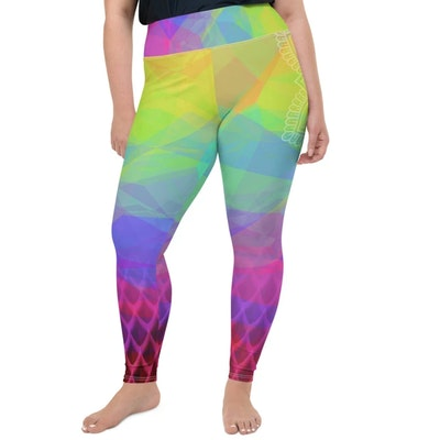 Yoga Pants Store Kundalini Queen Crown Chakra Curvy Leggings