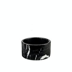 Houndztooth Marble Cat Bowls – Black Carrara