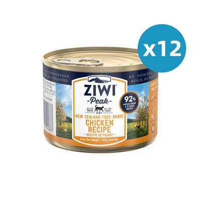 ZiwiPeak ZIWI Peak Cat Chicken Recipe Can 185G X 12