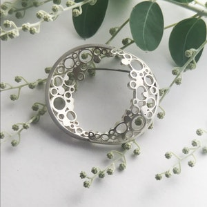 Double Large new moon Brooch