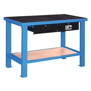 Workshop Bench Heavy Duty Mechanics Table Rubber Top SP40410
