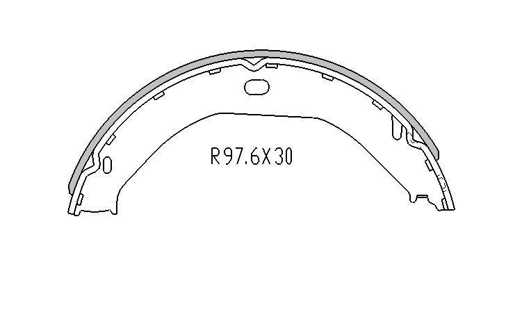 RDA REAR HAND BRAKE SHOES for Jeep Grand Cherokee II WJ WG