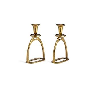 Brass Stirrup Candle Holder