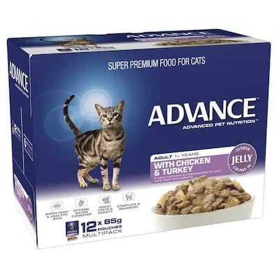 Advance Adult Chicken in Jelly Wet Cat Food 85G x 12 Pack