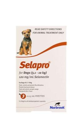 SELAPRO Spot On Treatment 5.1-10kg Dog 3 Pack
