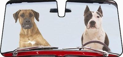 2 Dogs Design Premium Car Sunshade