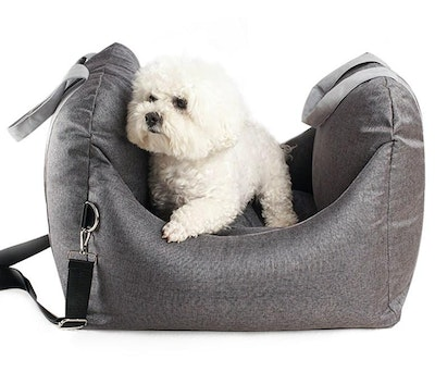 House of Pets Delight Plush Pet Booster Car Seat in Charcoal (preorder)