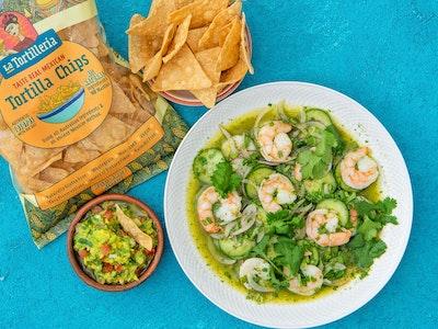 Prawns Aguachile & Tacos Mexican Feast, serves 2-4