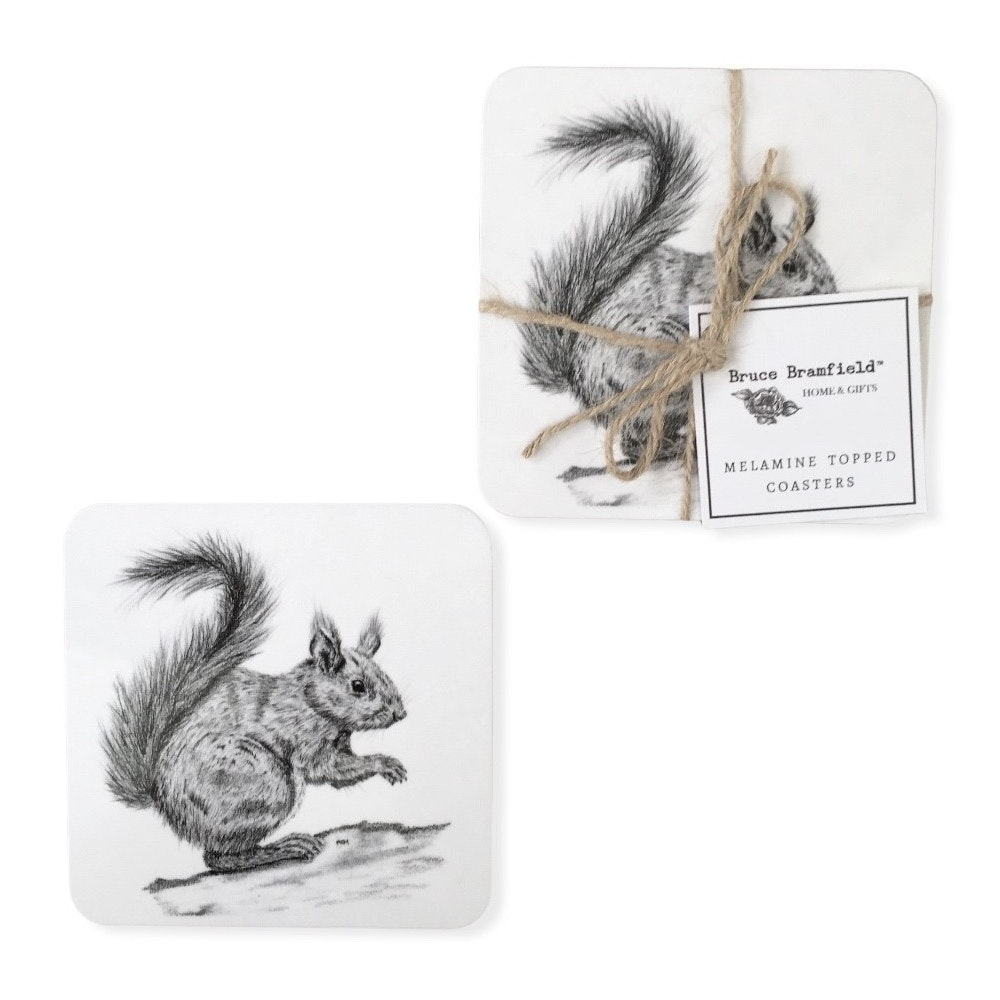Bruce Bramfield Squirrel Set Of Two Coasters
