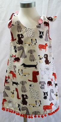 Handgrown Threads Dress - Size 2 - Cute Dogs