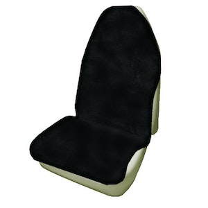 Throwover Sheepskin Seat Covers 20Mm Airbag Safe | Black