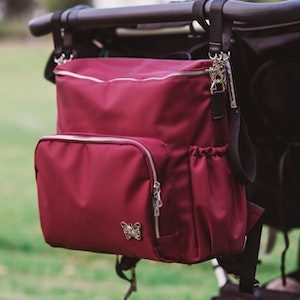 Monarch Store 3-in-1 Convertible Nappy Backpack | Cranberry