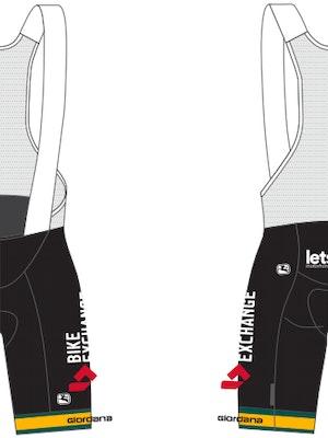 Giordana Team BikeExchange Champion of Australia Vero Pro Bib Shorts