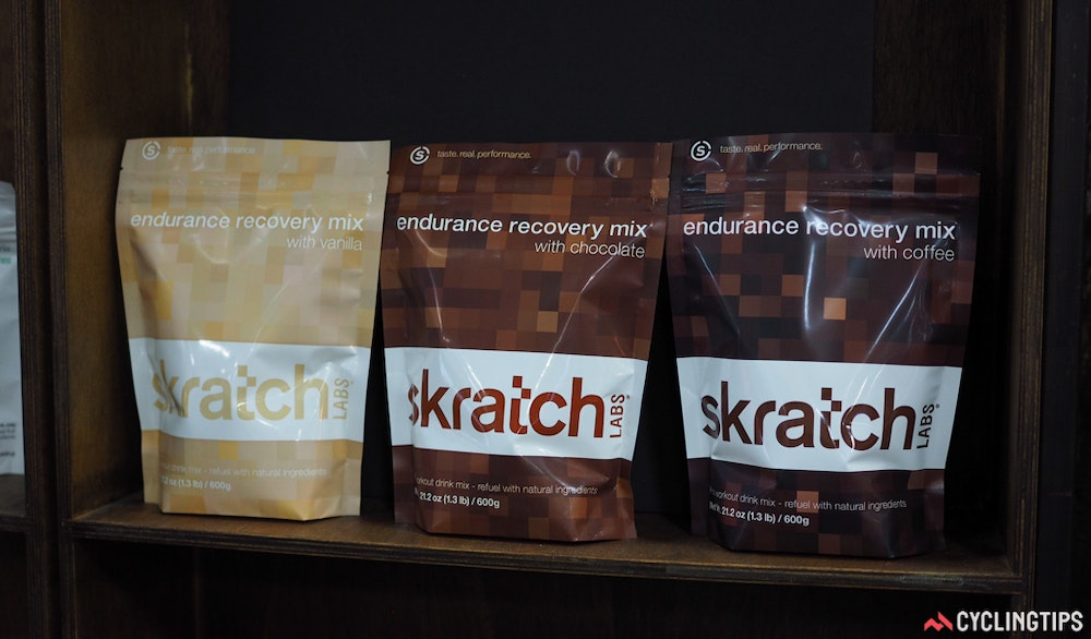 Skratch Labs recovery drinks InterBike 2016 CyclingTips 43045