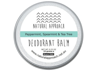 Natural Approach 15g - Bicarb FREE - Peppermint, Spearmint & Tea Tree - Natural Deodorant