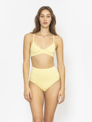 Organic Triangle Bra - Lemon