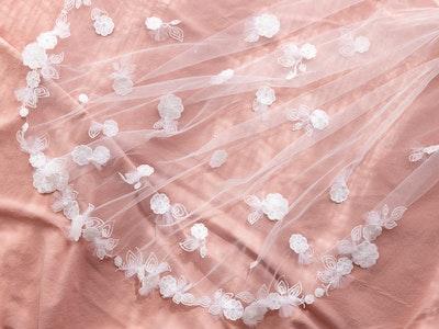 Dawn Jasmine and Twilight Dreams The Alyssa Floral Veil