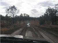 Carnarvan Gorge Road after rain.  No leaks no problems.