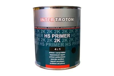 Troton HS Primer Filler Black 4:1 4.5Lt Kit (Hardener Included)