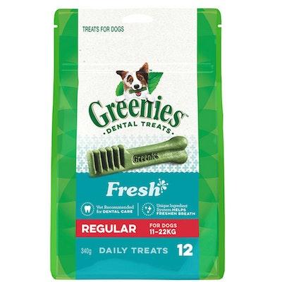 Greenies Fresh Mint Regular Dogs Dental Treats 11-22kg 340g