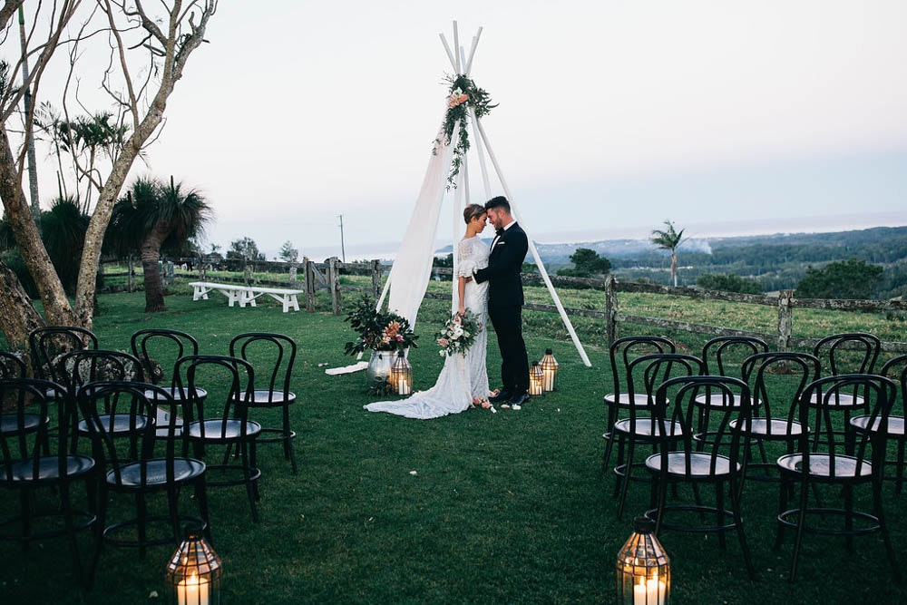 LENZO Bohemian Byron Bay Wedding Ceremony