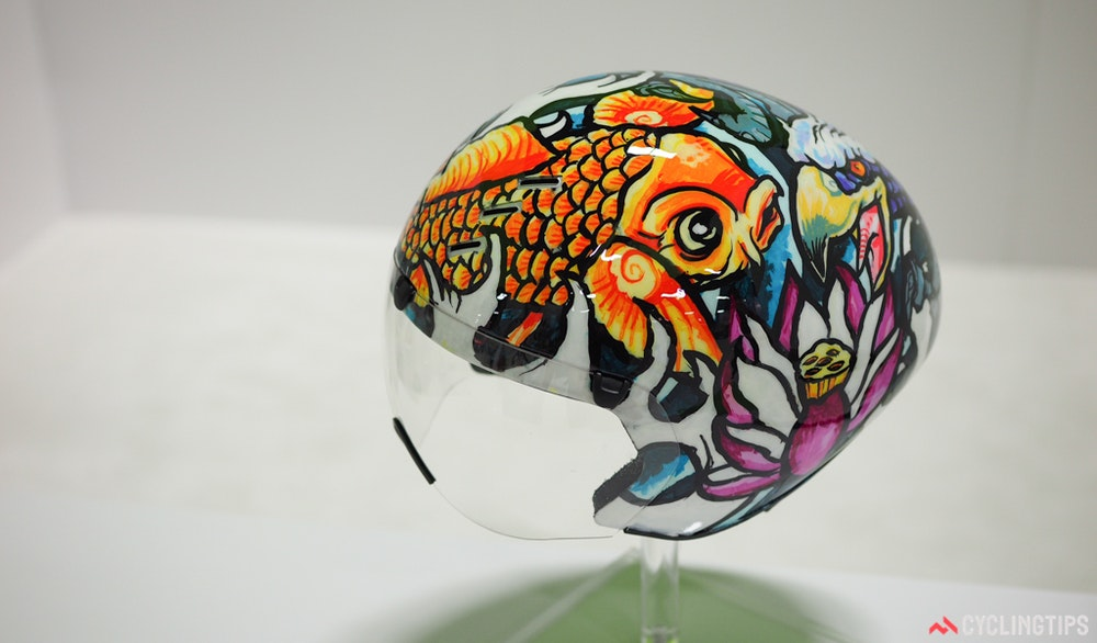Kask custom painted helmet noble hardesty InterBike 2016 CyclingTips 43104