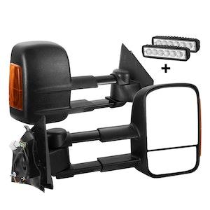 SAN HIMA SAN HIMA Pair Towing Mirrors Extendable for Mazda BT-50 MY 2012-2020