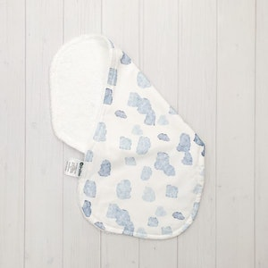 Grubbee Blue Spot Burp Cloth
