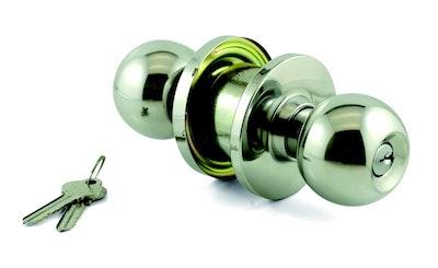 Carbine PE3862 Vestibule / Storeroom knob set 60mm back set in polished stainless steel finish