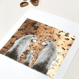 A3 'Family Forever Plus One' Limited Edition Print with Hand-Applied Gold-Leaf Metals.