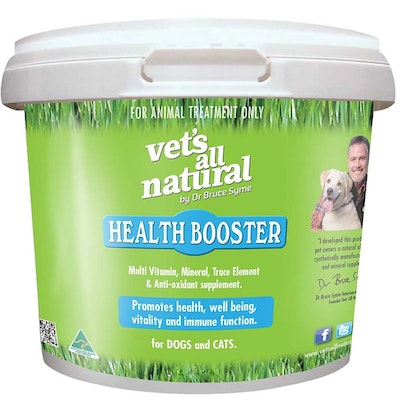 Vets All Natural Health Booster Cat Dog Vitamin Supplement - 4 Sizes