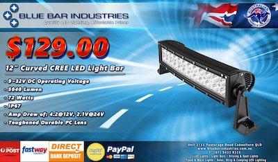 "12"" Curved CREE LED Light Bar"