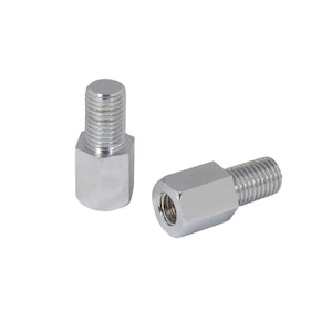 Mirror Adapters Right 8 mm to 8 mm Right - Chrome