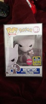 Flocked Mewtwo Pokemon Funko Pop Vinyl